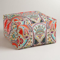 Warm Venice Paisley Outdoor Ottoman