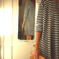 Navy &amp; White Nautical Stripes