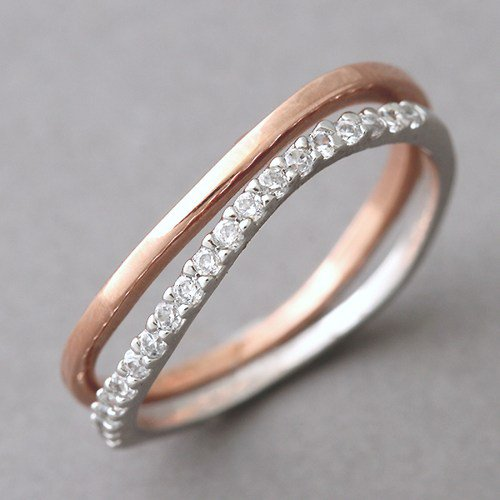 wavy stackable wedding ring bands from kellin on artfire