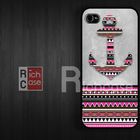 Case iPhone 4 Case iPhone 4s Case iPhone 5 Case idea case aztec case anchor case pink case