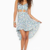 Caged Tail Dress - Floral in  Clothes at Nasty Gal