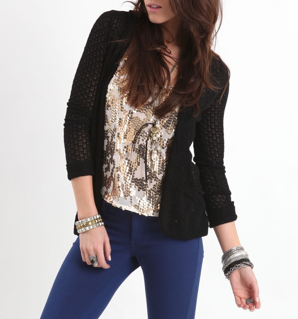 Kirra Pointelle Scoop Pocket Cardigan - PacSun.com
