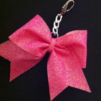 Glitter Cheer Bow Keychain