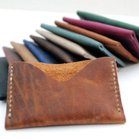 Dark camel credit card holder, Leather Card Case, men and women wallet , ID Holder, leather wallet, Cardcase, credit card wallet CARD001
