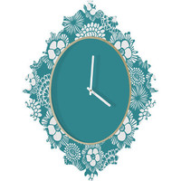 DENY Designs Home Accessories | Heather Dutton Festibloom Baroque Clock