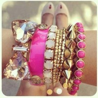 Arm Candy = Stacked Bracelets