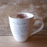 Personalized Love Note Coffee Mug  MADE TO by SecondChanceCeramics