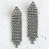 Free People  Vintage Crystal Rhinestone Dangle Earrings at Free People Clothing Boutique