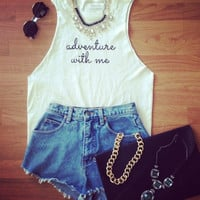 Adventure with Me Tee - Furor Moda - Tops - Dresses - Jackets - Vintage