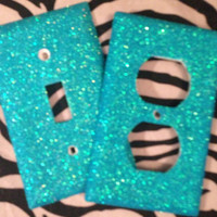 Glittered Blueberry Slush Light Switch & Outlet Cover Set