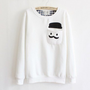 Thickened Cashmere Fashion Doll Head Long-sleeved Sweater