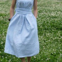 heavens above white flax sundress more colour choose by thesimpson