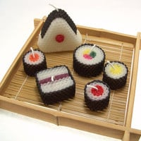 Sushi Candle Gift Set Original Assorted Sushi by doublebrush