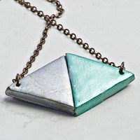 Duo Triangle Necklace by JageInACage on Etsy