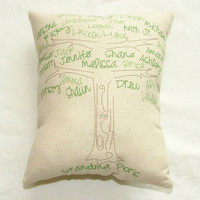 SALE - Family Tree Pillow with branches and trunk