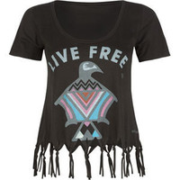 ELEMENT Eagle Womens Fringe Crop Tee 189450100 | tees | Tillys.com