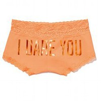 Lace Trim Boyshort Panty - PINK - Victoria's Secret