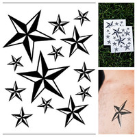 Nautical Stars  temporary tattoo Set of 2 by Tattify on Etsy