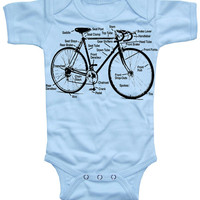 Retro Bicycle Baby Boy Onesuit by happyfamily on Etsy