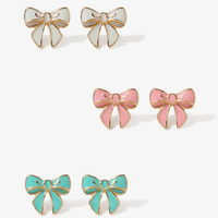 Sweet Bow Stud Set | FOREVER 21 - 1044280643