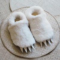 Adult Size Wolf Slippers inspired by Where the Wild Things Are