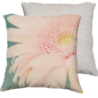 Wonderful - Cotton Art Pillow Case - 18x18 - Photography - Daisy Nature Pink Girly Nursery