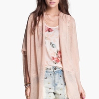Painted Threads Oversized Sheer Knit Cardigan (Juniors)