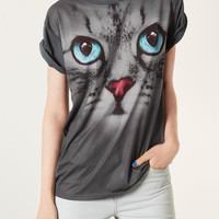Cute Cat Tee - T-Shirts - Jersey Tops - Clothing - Topshop