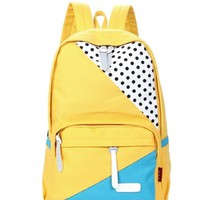 Cute cartoon POINT canvas backpack bag