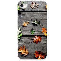 iPhone 4 /4S case We All Fall Down leaf leaves by SkyeZPhotography