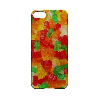 Multi-Colored Gummy Bears Geeks Designer Line Candy Series Slim Hard Back Cover for Apple iPhone 5