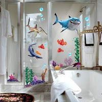 Amazon.com: Finding Nemo Wall Stickers Sharks and Fish's Live Sea Removable Children/kids Home - Decors Mural Art Nursery Decal NEW (Decowall-stickers): Home & Kitchen