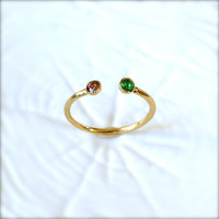 Gold Birthstone Ring by illuminancejewelry on Etsy
