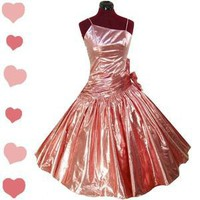 Vintage 80s PINK Metallic FULL SKIRT Prom PARTY Dress M L Glam CANDY Dance Vtg Vintage 80s PINK Metallic FULL SKIRT Prom PARTY Dress M L Glam CANDY Dance Vtg - eBay (item 300678517721 end time Apr-12-12 15:56:38 PDT)