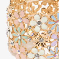 Lacquered Fairytale Flowers Bracelet | FOREVER 21 - 1030186757