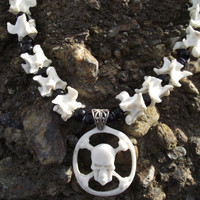 The Sea Dog - Buffalo Bone Pendant and Snake Spine Necklace