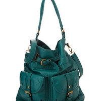 ideeli | CESCA Lizzy Washed Double Pocket Hobo