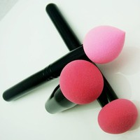New From Cheeky, Set of 3 Pro Beauty Flawless Makeup Blender / Makeup Sponge / and Sponge Brush / Foundation Puff. Multi Shape Makeup Sponge