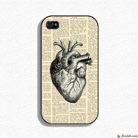 Iphone 4 Case - Vintage Human Heart Iphone Case
