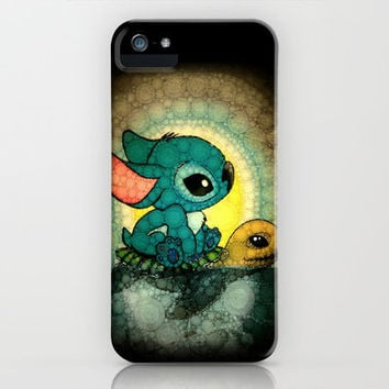 Swimming Stitch iPhone Case by Alohalani