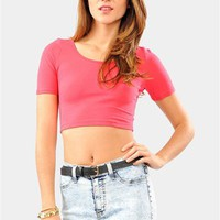 Cory Crop Top - Coral
