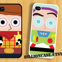 Buzz Lightyear Woody Toy Story - iPhone 4 Case iPhone 5 Case iPhone 4s Case idea case Galaxy Case Hard Plastic Case Rubber Case Movie Parody