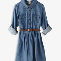 Studded Chambray Shirtdress | FOREVER 21 - 2027999149