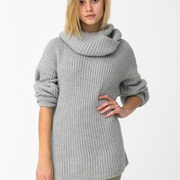 Unisex Oversized Fisherman Turtleneck Sweater | Turtlenecks | Women's Sweaters | American Apparel