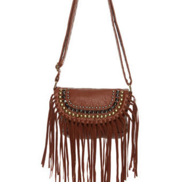 Cute Brown Purse - Fringe Purse - Boho Purse - $38.00