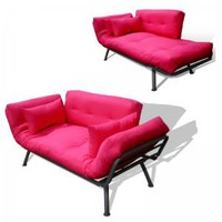Amazon.com: American Furniture Alliance Modern Loft Collection Futon Mali Flex Combo, Pink: Home &amp; Kitchen