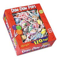 Amazon.com: Spangler - Dum-Dum-Pops, Assorted Flavors, Individually Wrapped, 120-Count Box - Sold As 1 Box - The classic, all American lollipop.: Office Products