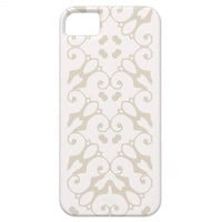 iPhone 5 white and bone pattern case iPhone 5 Cover from Zazzle.com