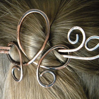 Barrette, Hair Pin, Hair Accessories, Hair Clip, Metal Hair Clip, Hair Sticks, Hair Fork, Hair Comb, Hair Accessory, Copper Hair Clip, Hair