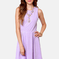 Jacquard-ed at the Door Lavender Dress